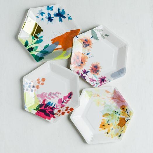 Pappteller Florals