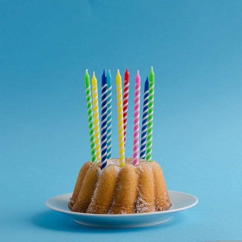 Bunte Geburtstagskerzen
