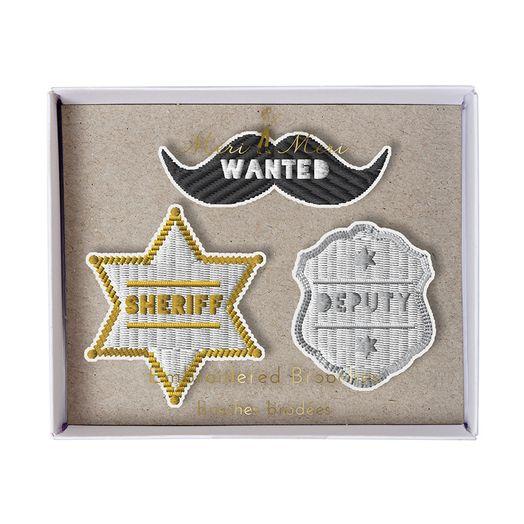 Sheriff Broschen Set
