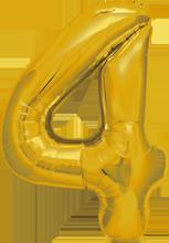 """Zahlenballon gold """"4"""" 40cm"""
