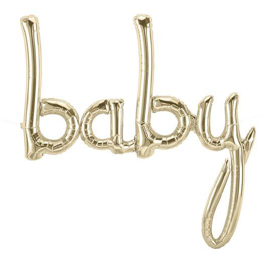 Baby Schriftzug Ballon in Gold
