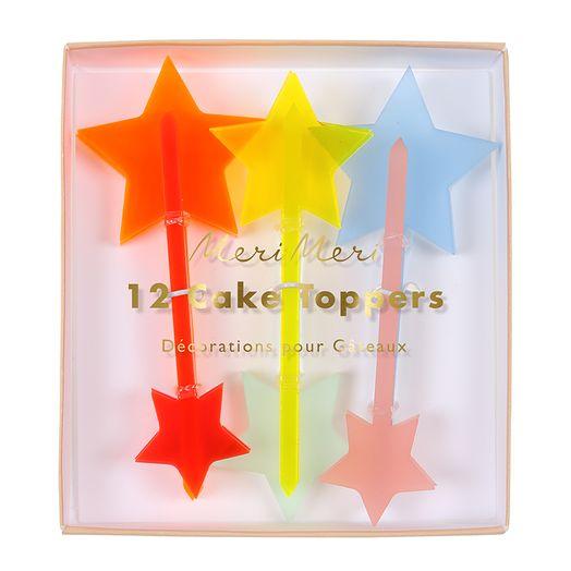 Cupcake Topper Set Sterne
