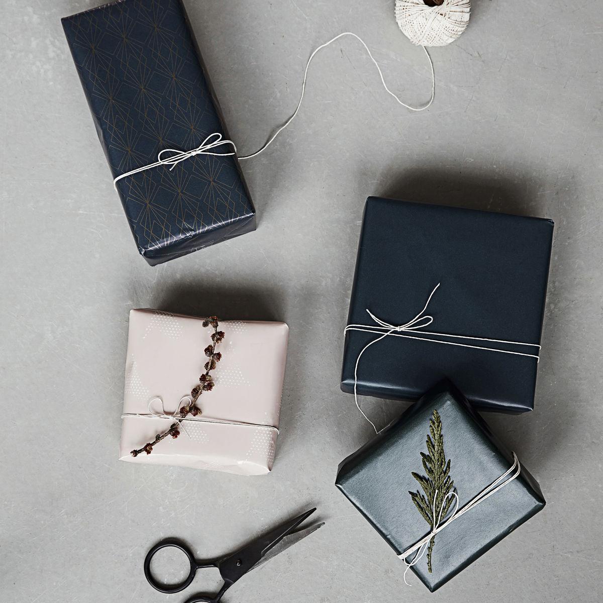 2er Set Geschenkpapier Blau/Rosa