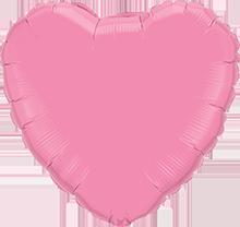 Folienballon Herz Rose