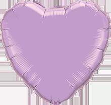 Folienballon Herz Lavendel Perl