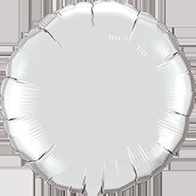Folienballon rund in Silber