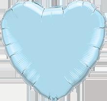 Riesiges Herz Hellblau Perl