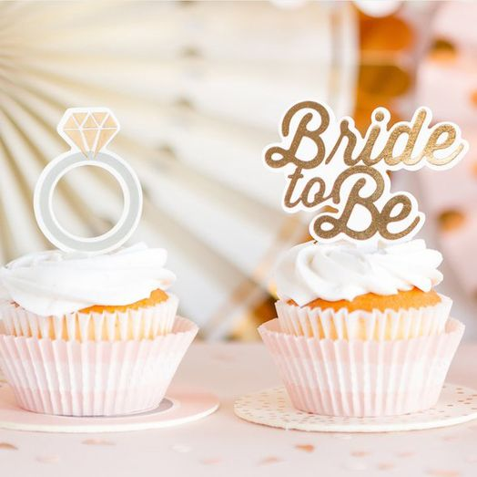 Cupcake Topper Bride to be