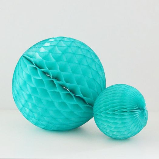Wabenball in Teal