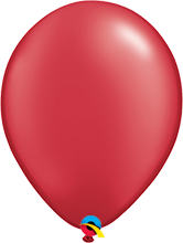 Luftballon 28cm in Pearl Ruby Red