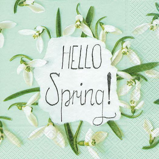 Servietten Hello Spring