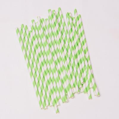 Trinkhalme Streifen Hellgrün