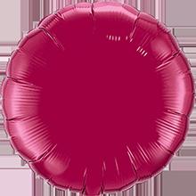 Folienballon rund in Burgundy