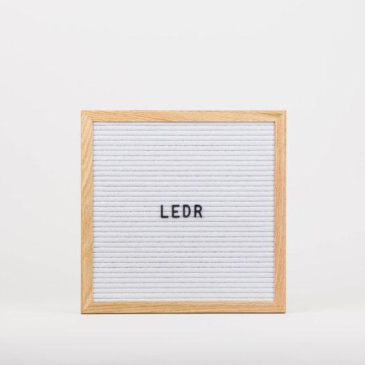 Letterboard 30x30 Weiss