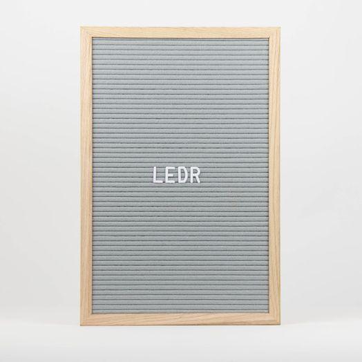 Letterboard 30x45 Grau