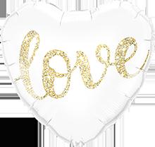 Folienballon Herz love