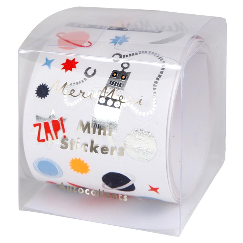 Mini Weltraum Sticker auf Rolle