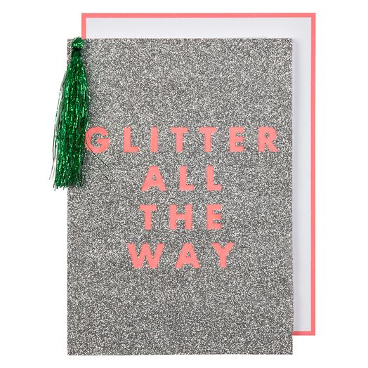 Weihnachtskarte Glitter all the way