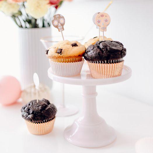 Cupcake-Set Sugar Skull
