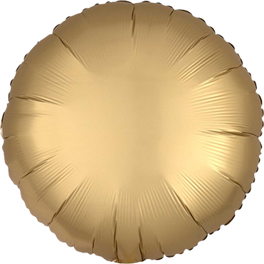 Folienballon Satin Rund Gold