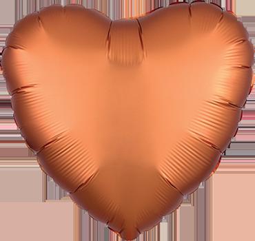 Folienballon Satin Herz Orange