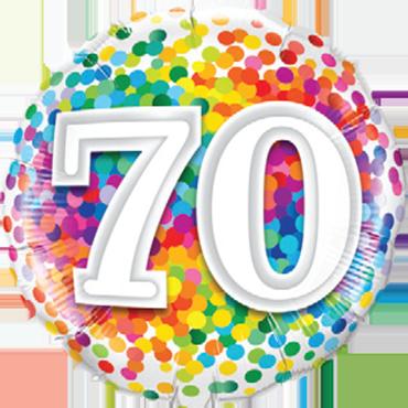 Folienballon Geburtstag 70