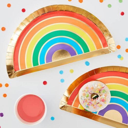 Regenbogen Pappteller