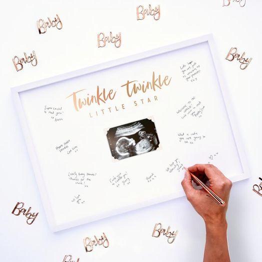 Gästebuch Fotorahmen Baby