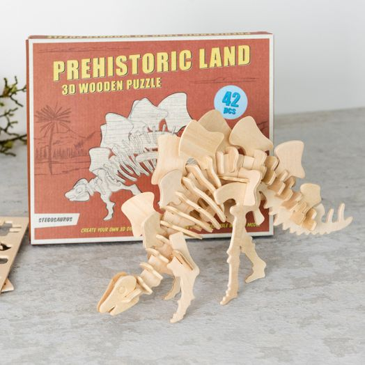 Stegosaurus 3D Holzpuzzle