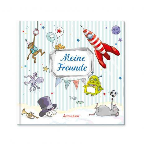 Freundebuch Blau