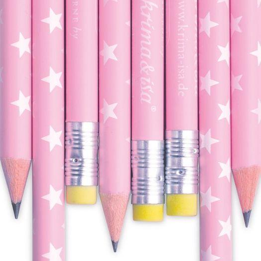 Bleistift rosa Sterne