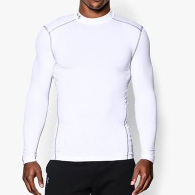 under armour COMPRESSION MOCK SHIRT Cold Gear Herren weiß