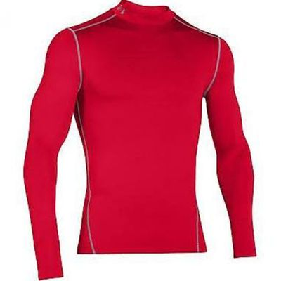 under armour COMPRESSION MOCK SHIRT Cold Gear Herren rot