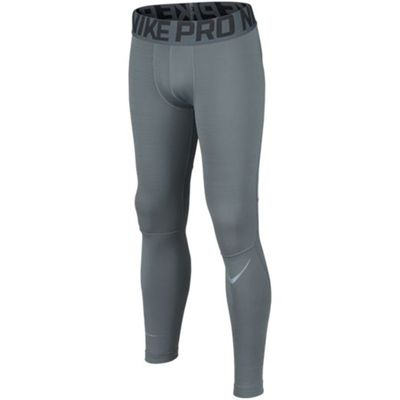 nike PRO HYPERWARM Compression Thermohose Kinder grau – Bild 1