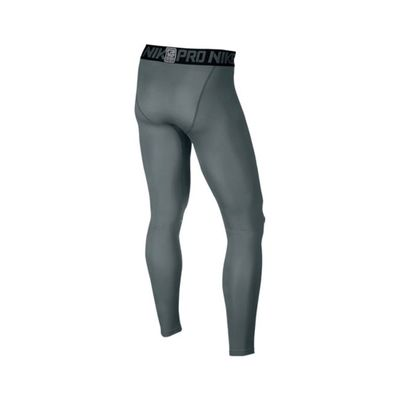nike PRO WARM TIGHT Laufhose Compression Herren grau – Bild 2