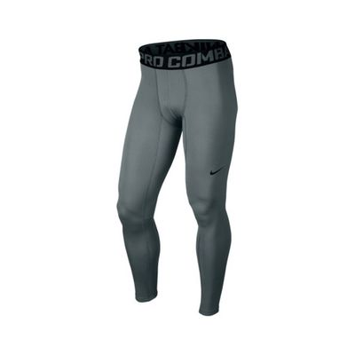 nike PRO WARM TIGHT Laufhose Compression Herren grau – Bild 1