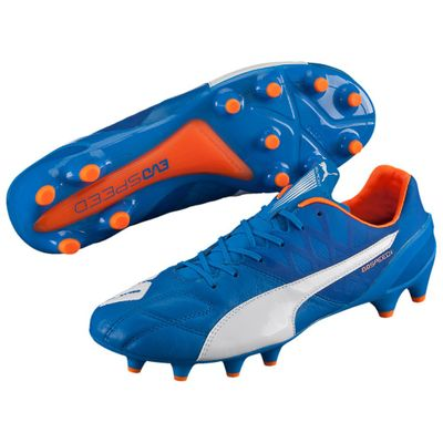 puma evoSPEED 1.4 Leather FG blau-orange