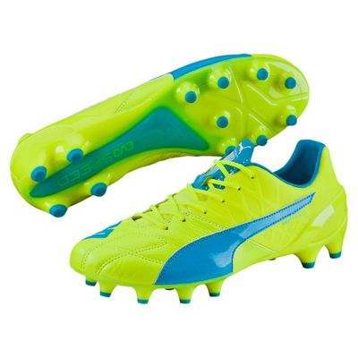 puma evoSPEED 1.4 Leather FG gelb-blau