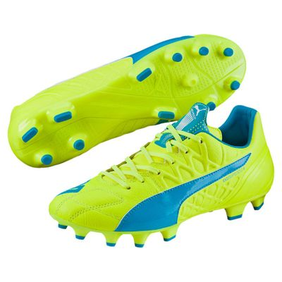 puma evoSPEED 3.4 Leather FG gelb-blau