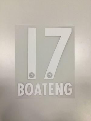 Original FC Bayern München Trikot-Flock 17cm - BOATENG 17