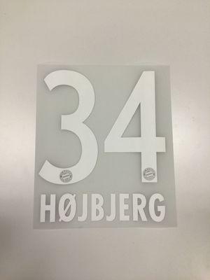 Original FC Bayern München Trikot-Flock 23cm - HOJBJERG 34