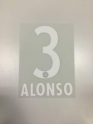 Original FC Bayern München Trikot-Flock 17cm - ALONSO 3