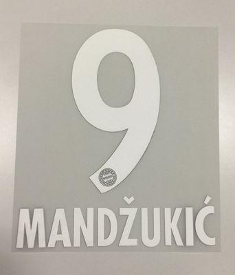 Original FC Bayern München Trikot-Flock 17cm - MANDZUKIC 9