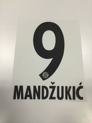 Original FC Bayern München Trikot-Flock 23cm - MANDZUKIC 9