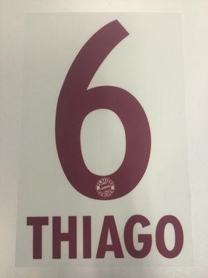 Original FC Bayern München Trikot-Flock 17cm - THIAGO 6
