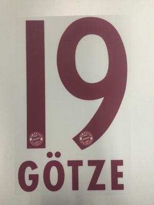 Original FC Bayern München Trikot-Flock 23cm - GÖTZE 19