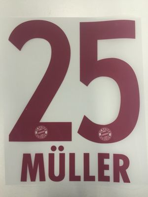 Original FC Bayern München Trikot-Flock 17cm - MÜLLER 25