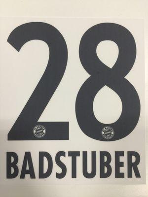 Original FC Bayern München Trikot-Flock 17cm - BADSTUBER 28
