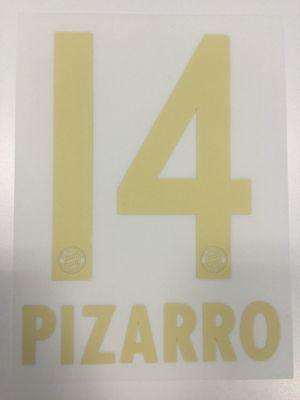 Original FC Bayern München Trikot-Flock 23cm - PIZARRO 14