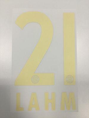 Original FC Bayern München Trikot-Flock 17cm - LAHM 21